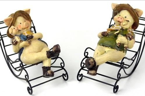 Rocking Chair Pigs