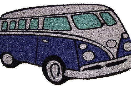 Blue Kombi Van Door Mat