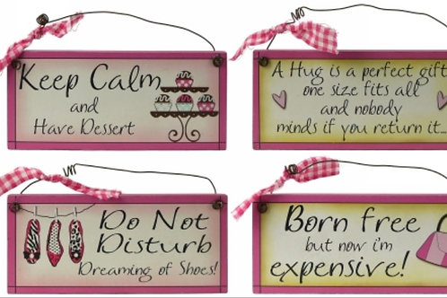 Girls Humour  Plaques