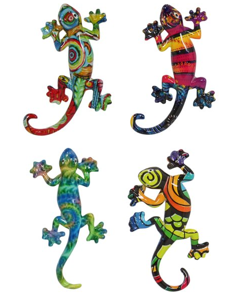 Multi Coloured Lizard Magnets