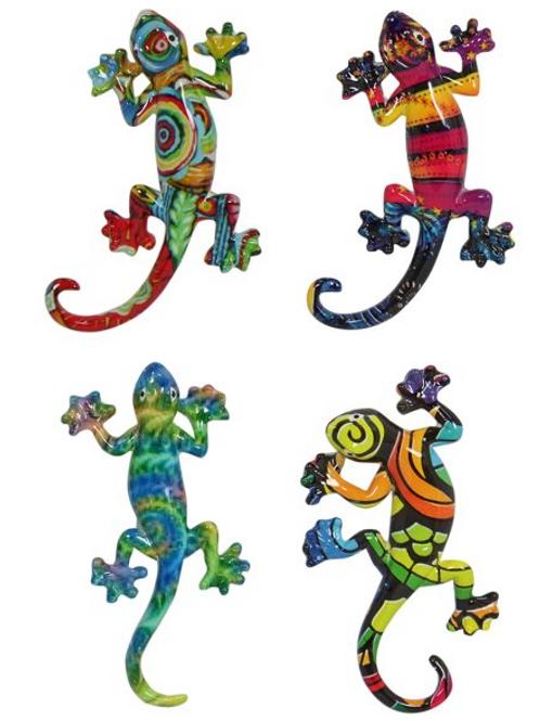 Multi Coloured Lizard Magnets