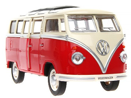VW 1:36 Alloy Model Mini Van Combi - Red