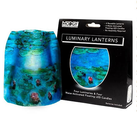 Waterlillies Luminary Lantern