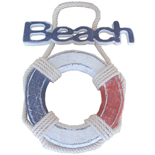 Lifebuoy Beach Sign