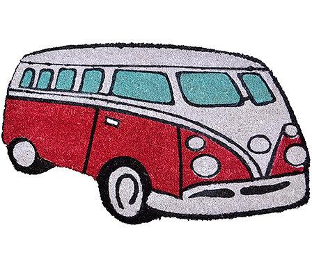 Red Kombi Van Door Mat