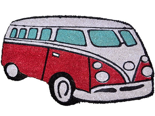 Red Kombi Van Door Mat