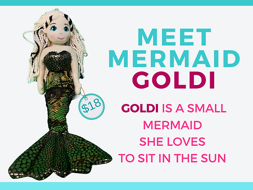 Shimmering Mermaid  GOLDI