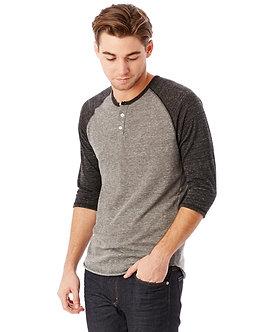 Men's Eco Jersey 3/4 Sleeve Henley