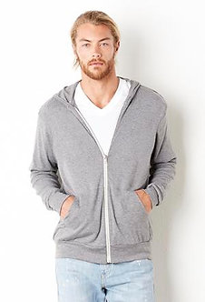 Bella+Canvas Lightweight Full Zip Sweater