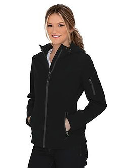 Ladies Essential Hooded Soft Shell Jacket