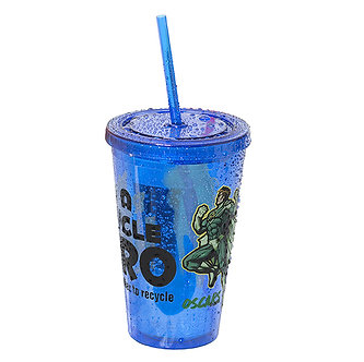 500ml (17 oz.) Double Walled Tumbler with Straw