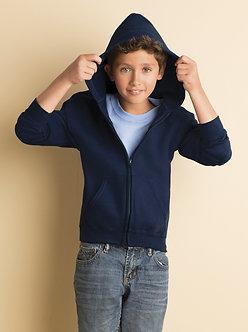Youth Gildan Full Zip 50/50 Sweater