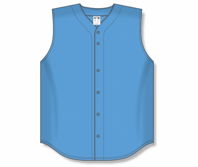 Sleeveless Full Button up Baseball Jersey BA1812