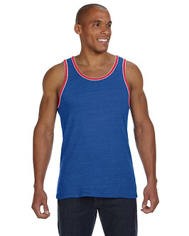 Men's Triblend Double Ringer Fashion Tank