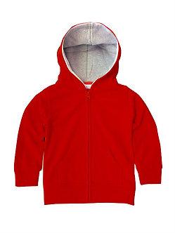 Kids Zip Hoodie with Contrast Hood