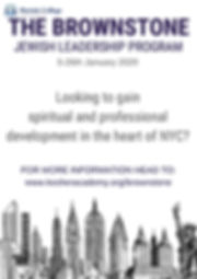 THE BROWNSTONE JEWISH LEADERSHIP PROGRAM