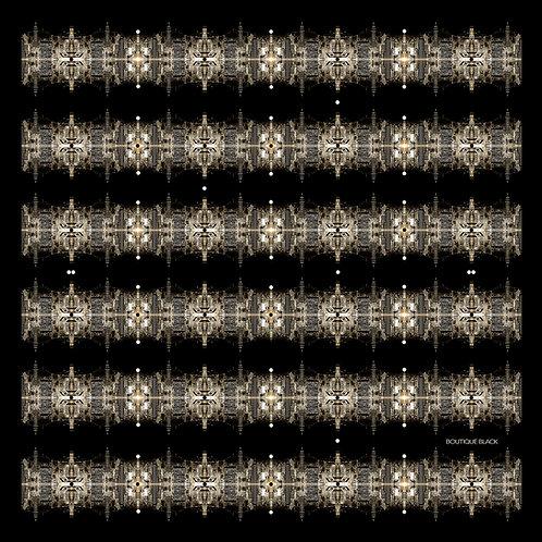Silk Neckerchief   NYC Black & Gold   Limited Edition Print
