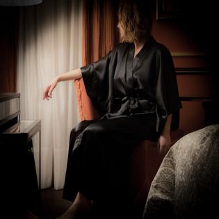 Black Silk Kimono LL Venice