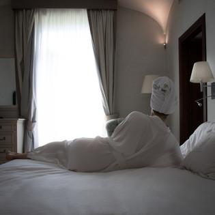 White Silk Kimono LL Back Sorento