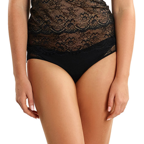 Cotton Brief with Lace
