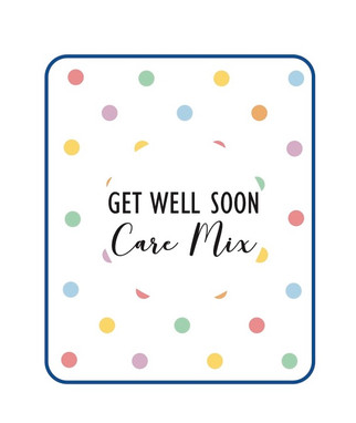 Snack Mix Get Well Label