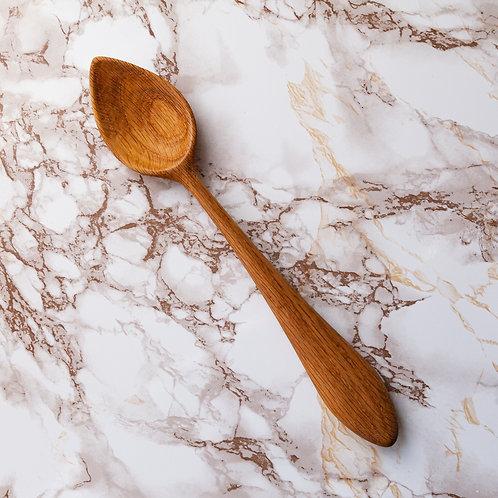 Oak Serving Spoon