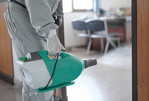 Disinfecting of office to prevent COVID-