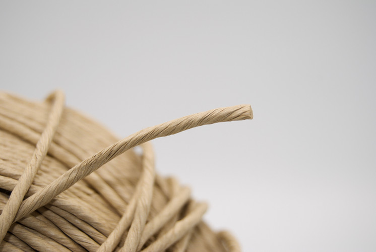 Cordón de papel natural