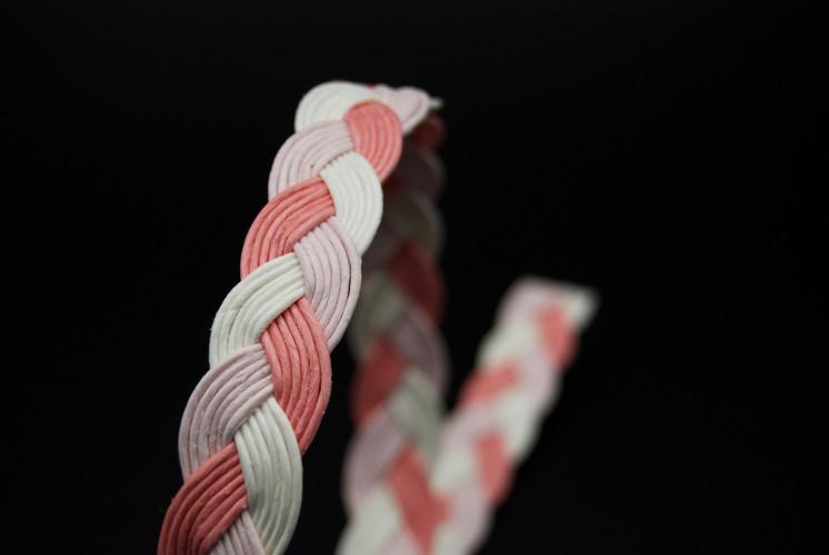 trenzas papel