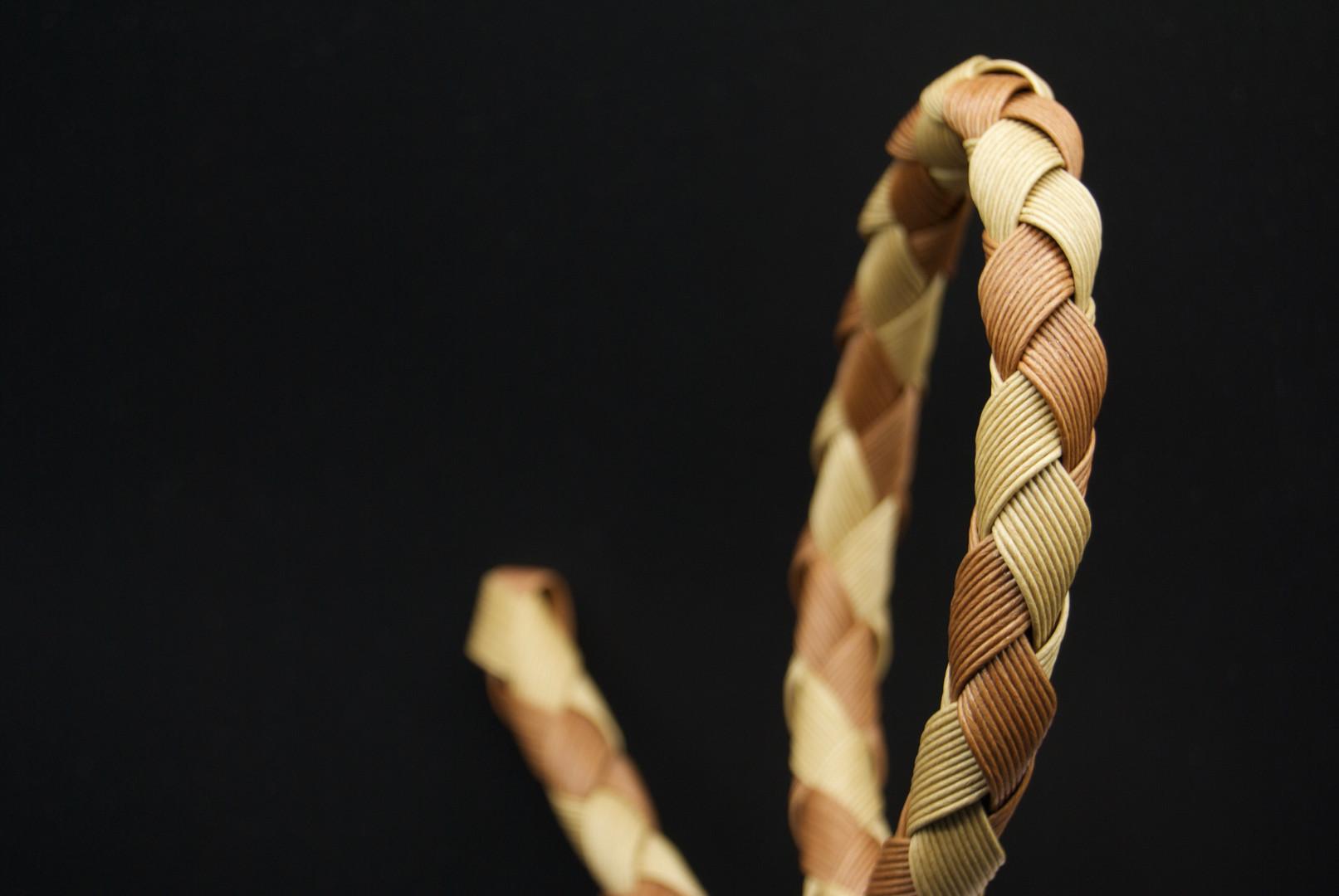tejido con papel