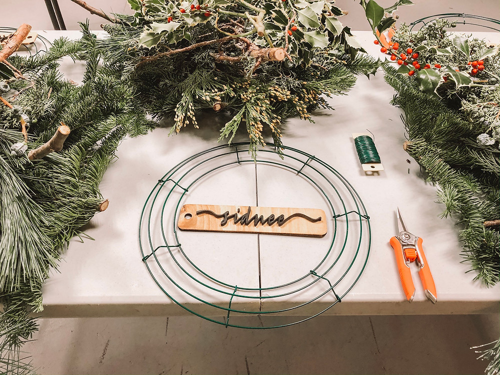 Wreath making class.