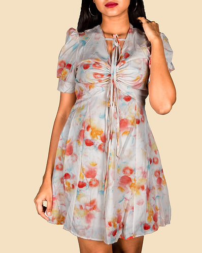 casual multicolor dress