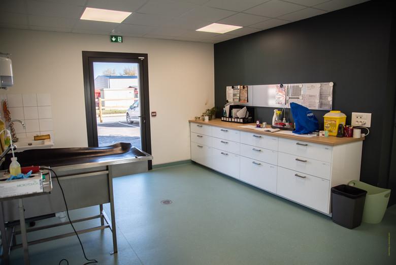 Salle préparatoire à la chirurgie.