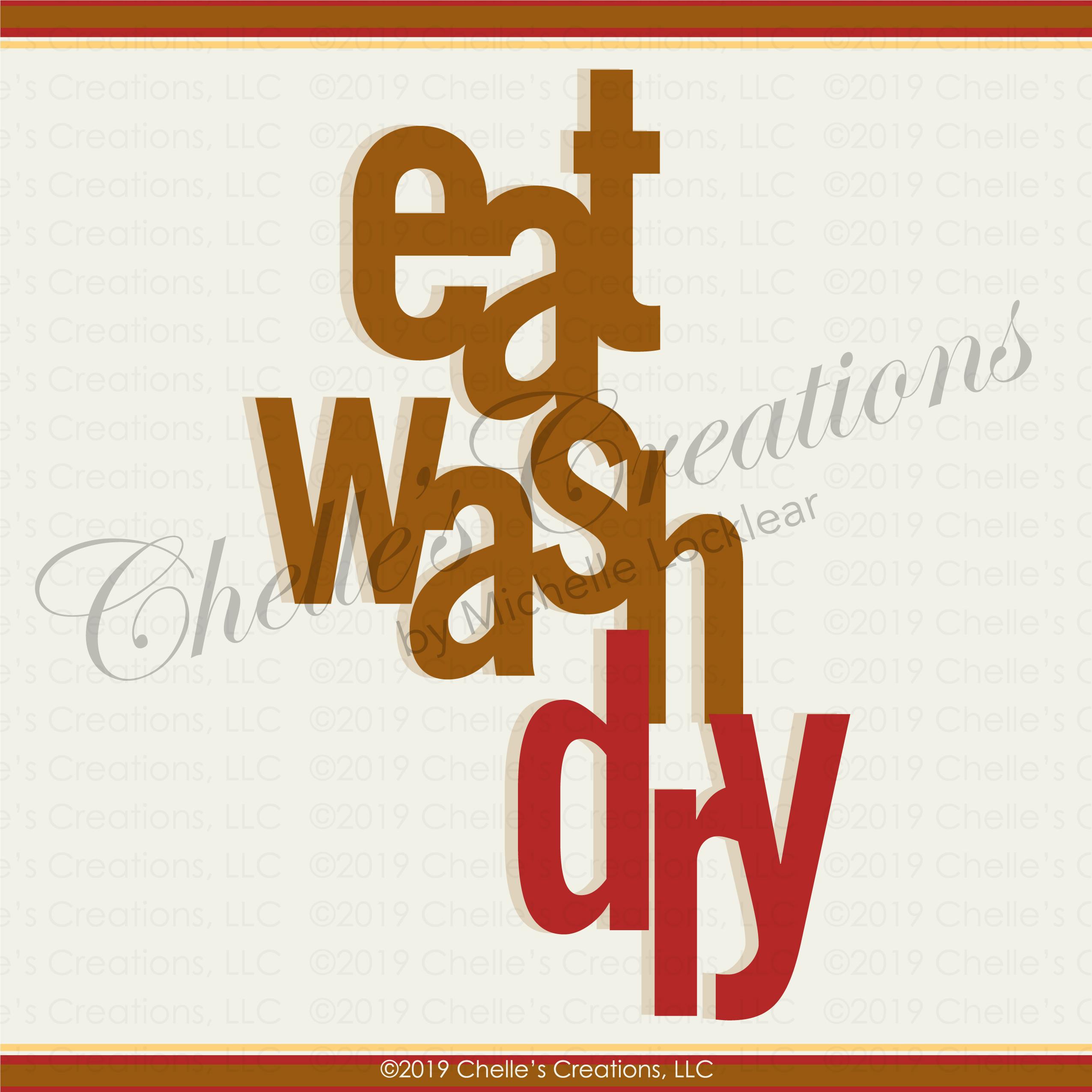 Eat Wash Dry Illustration