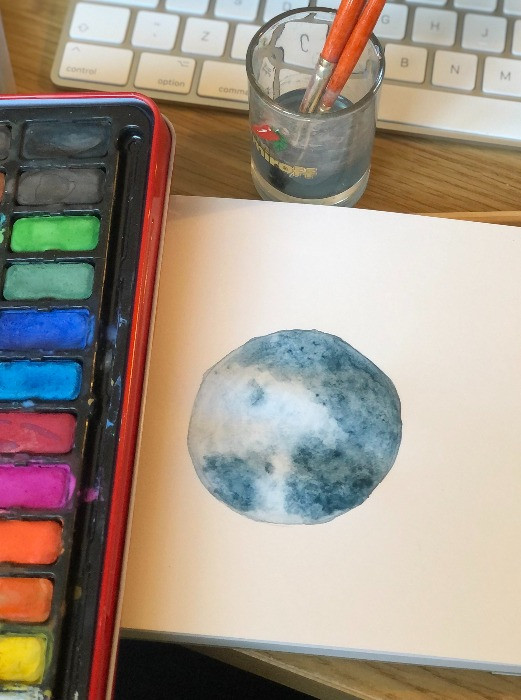 The paining of the moon; bitofselfcare.com