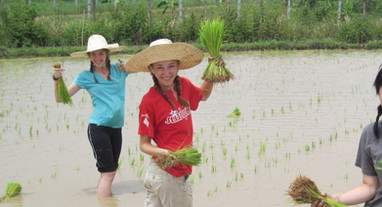 Rice Planting at the Girls Home