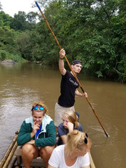 Bamboo Rafting on Adventure Day