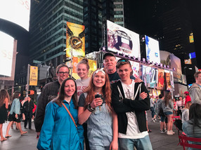 Stroll through Times Square on adventure day