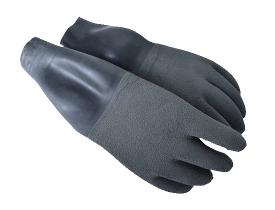 GREY DRY GLOVES WITH WRIST SEALS