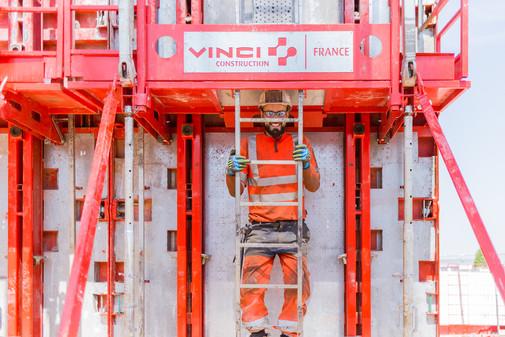 Reportage photographique chantier VINCI CONSTRUCTION