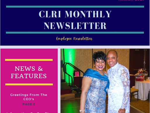 CLRI Employee Newsletter V.1 March 2021