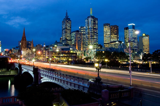 SAFEgroup Automation photo of Melbourne city lights at night