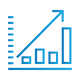 SAFEgroup Automation icon of a graph with an arrow going on an upwards trend