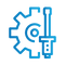 SAFEgroup Automation icon of a cog and screwdriver