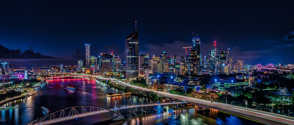 SAFEgroup Automation photo of Brisbane city skyline at night