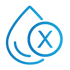 SAFEgroup Automation icon of a water droplet with a cross symbol on top of it