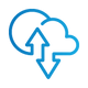 SAFEgroup Automation icon of a cloud with arrows going up and down into it