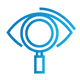SAFEgroup Automation icon of a magnifying glass over an eye
