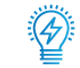 SAFEgroup Automation icon of a lightbulb with a lightening bolt inside