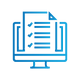 SAFEgroup Automation icon of a computer with a document coming out of the screen